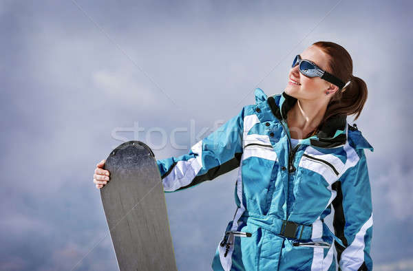 Snowboard fille lunettes Photo stock © Anna_Om