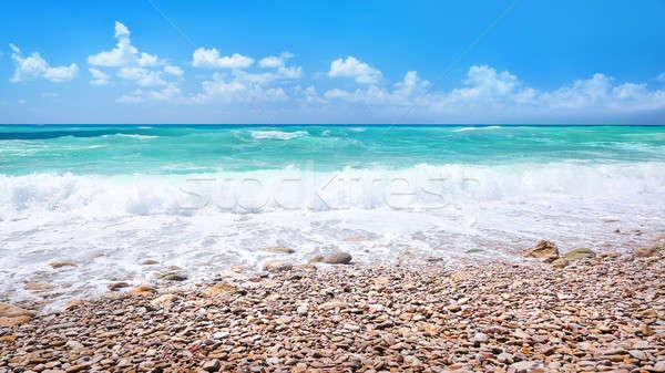 Stockfoto: Mooie · strand · panoramisch · landschap · panorama · verbazingwekkend