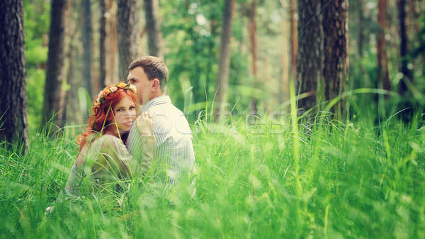 Gentle couple in the forest Stock photo © Anna_Om