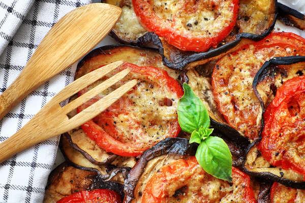Delicious pizza background Stock photo © Anna_Om