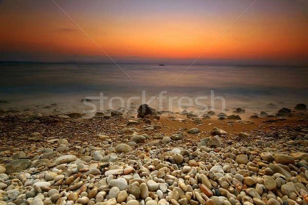 Tramonto paesaggio marino Libano cielo acqua sole Foto d'archivio © Anna_Om