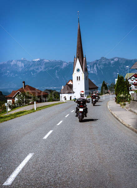 Travelling of bikers Stock photo © Anna_Om