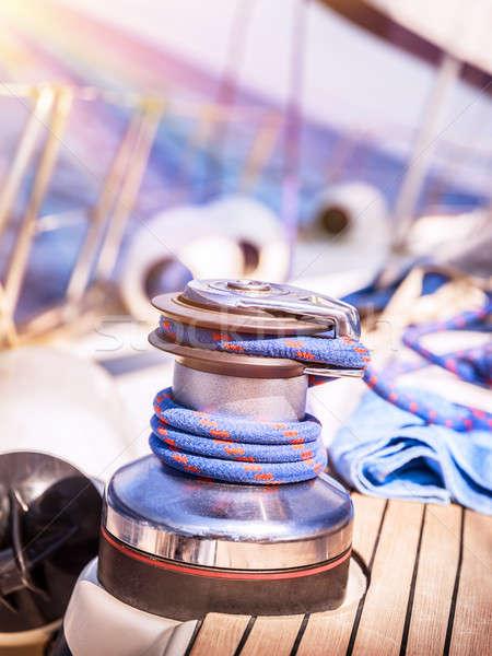 Sailboat winch Stock photo © Anna_Om