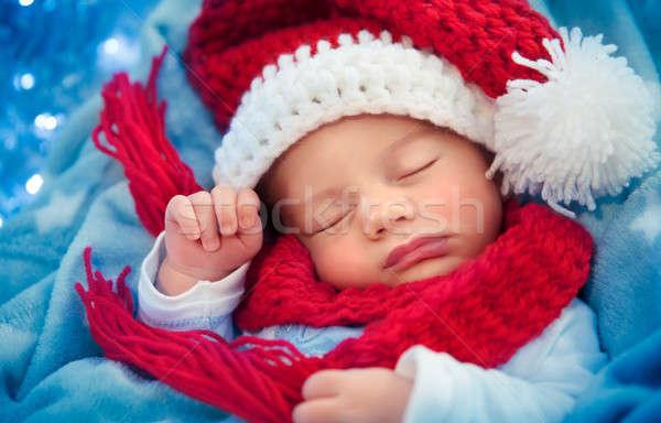 Newborn baby sleeping on Christmas eve Stock photo © Anna_Om