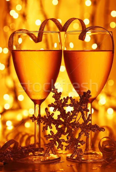 Romantyczny wakacje uroczystości pić christmas nowy rok Zdjęcia stock © Anna_Om