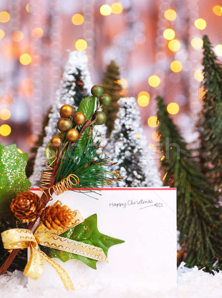 Happy holiday Christmas card Stock photo © Anna_Om