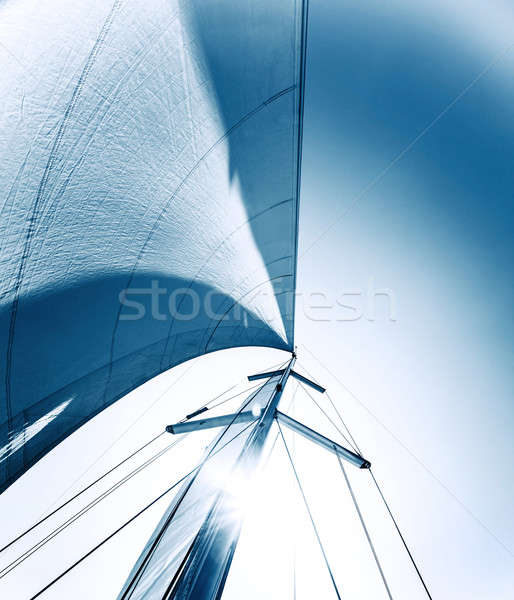 Voile voilier action grand blanche Photo stock © Anna_Om