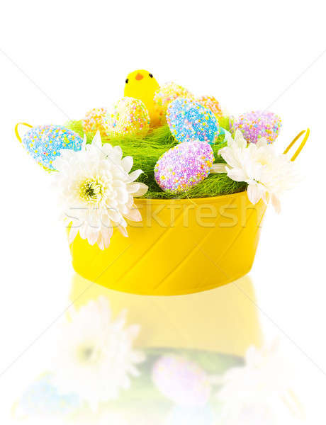 Kleurrijk paaseieren chick mooie eieren zoete Stockfoto © Anna_Om