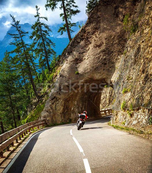 Binicilik tünel aşırı yaşam tarzı aktif Stok fotoğraf © Anna_Om