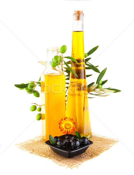 Olive oil still life Stock photo © Anna_Om