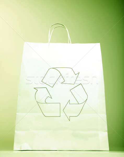 Сток-фото: экология · знак · белый · символ · настоящее