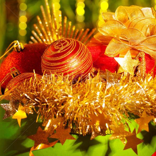 Neujahr Dekoration Bild Gl Hend Gr Nen Gelb