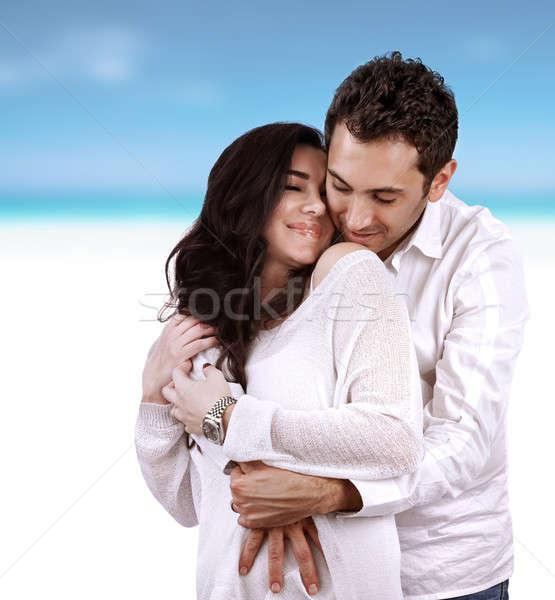Boldog szerelmespár vakáció fiatal arab család Stock fotó © Anna_Om