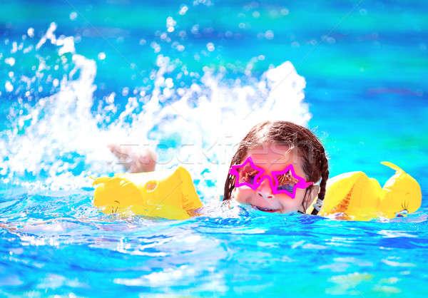 かわいい 赤ちゃん プール 着用 面白い ストックフォト © Anna_Om
