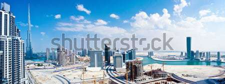 Panoramic image of Dubai city Stock photo © Anna_Om