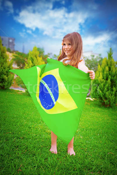 Brazilian football team fan Stock photo © Anna_Om