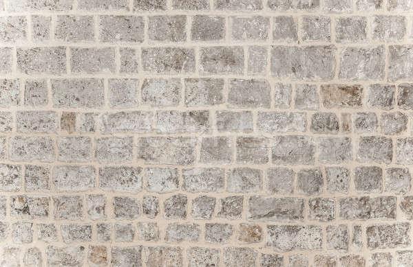 Gray brick background Stock photo © Anna_Om
