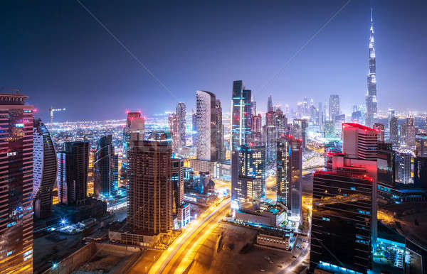 Beautiful night cityscape Stock photo © Anna_Om