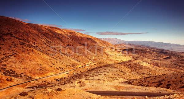 Stock fotó: Gyönyörű · tájkép · elképesztő · kilátás · út · panorámakép