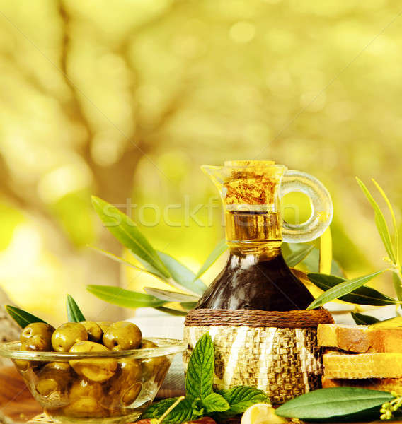 Olives still life aliments frais jardin olive arbres Photo stock © Anna_Om