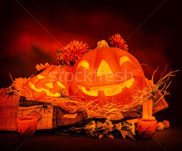 Хэллоуин натюрморт Scary темно красный пресмыкающийся Сток-фото © Anna_Om