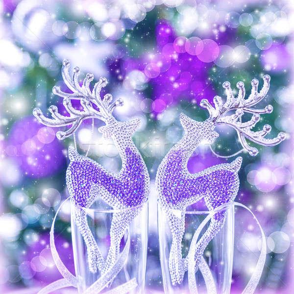 Reindeer Christmas ornament Stock photo © Anna_Om