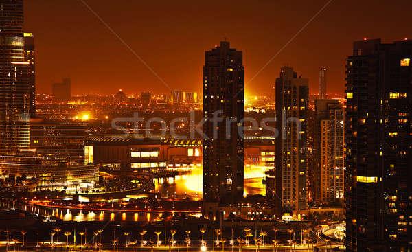 Dubai Innenstadt Nacht city lights Luxus Stock foto © Anna_Om