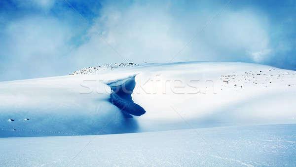 Kış dağlar manzara yüksek kar kar fırtınası Stok fotoğraf © Anna_Om