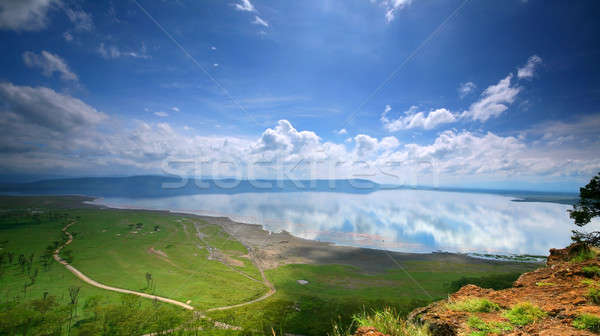 Paisible vue lac Afrique Kenya printemps Photo stock © Anna_Om