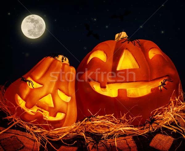 Halloween strony noc horror dynia Zdjęcia stock © Anna_Om