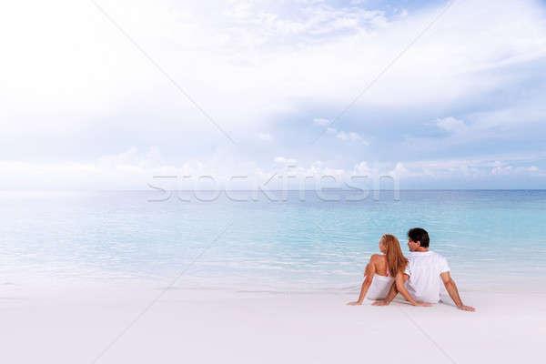 Loving couple on the beach Stock photo © Anna_Om
