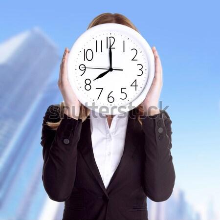 Pontos munkás üzletasszony visel hivatalos öltöny Stock fotó © Anna_Om
