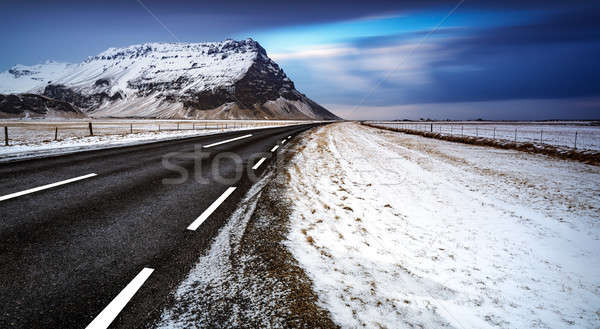 Route paysage Islande belle hiver vide Photo stock © Anna_Om