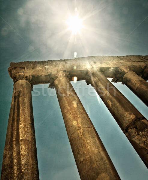 храма Ливан древних город руин ретро Сток-фото © Anna_Om