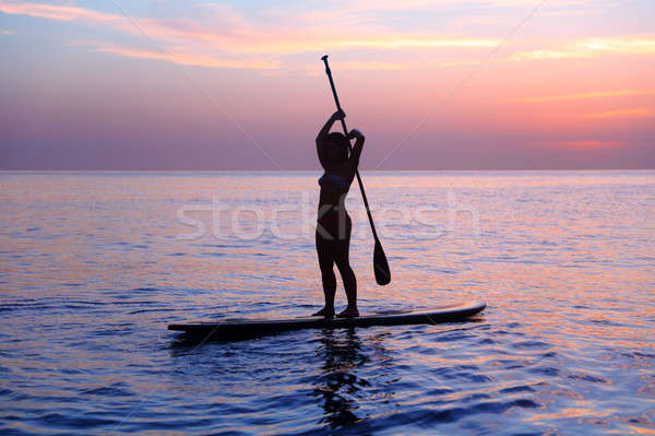 Woman on paddle board Stock photo © Anna_Om