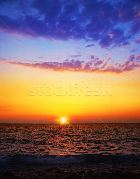 Pôr do sol praia belo marinha água Foto stock © Anna_Om