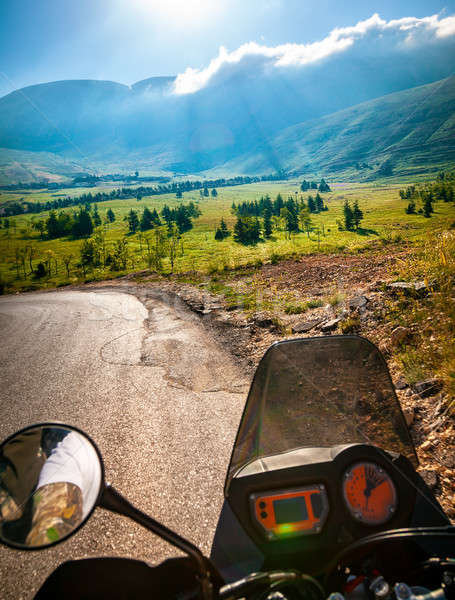Traveling on the motorbike Stock photo © Anna_Om