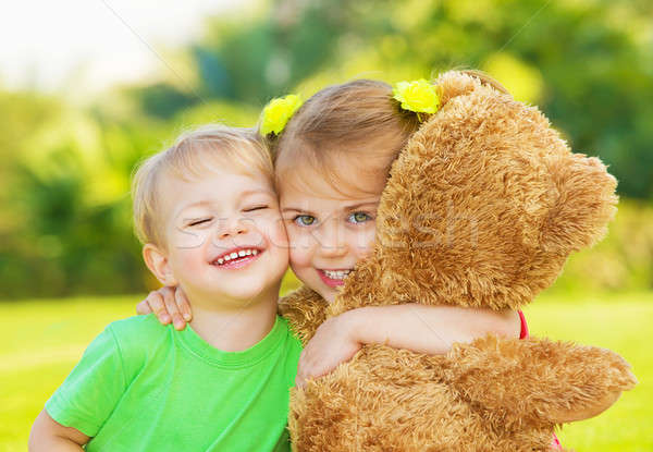 Two little child hugging Stock photo © Anna_Om