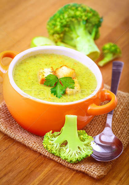 Tasty broccoli soup Stock photo © Anna_Om