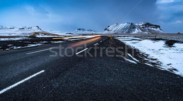 Road landscape in Iceland Stock photo © Anna_Om