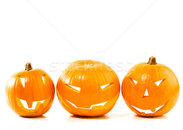 Halloween pumpkin border Stock photo © Anna_Om