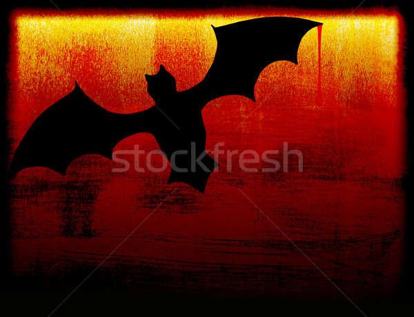 Halloween ünnep kártya denevér sötétség természet Stock fotó © Anna_Om