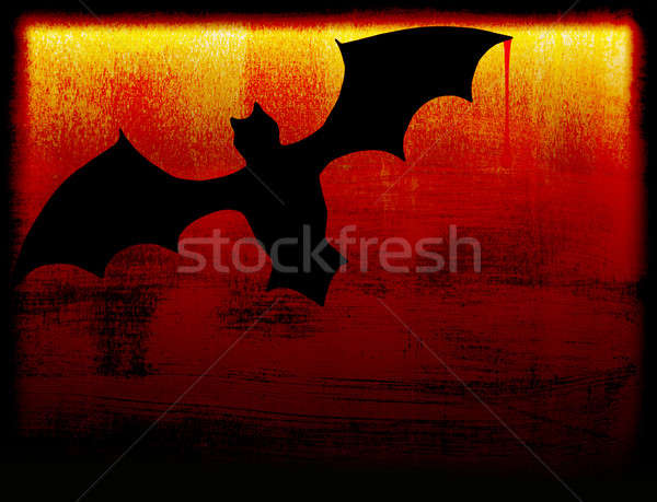 Хэллоуин праздник карт Bat темноте природы Сток-фото © Anna_Om