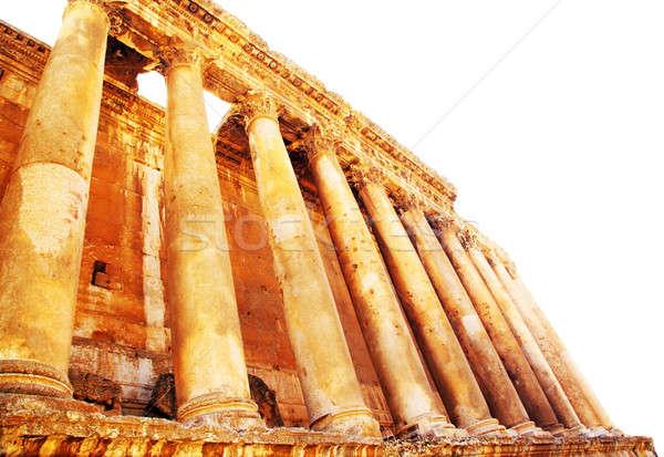храма изолированный белый Ливан древних римской Сток-фото © Anna_Om