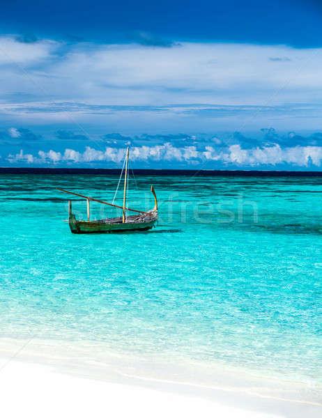 漁船 青 海 透明な 水 ストックフォト © Anna_Om