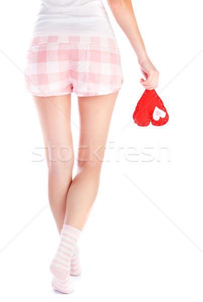 Сток-фото: любви · назад · сторона · женщину · пижама