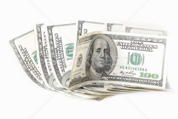 One hundred dollar banknotes Stock photo © Anna_Om