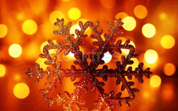 Foto d'archivio: Fiocco · di · neve · albero · di · natale · ornamento · inverno · vacanze