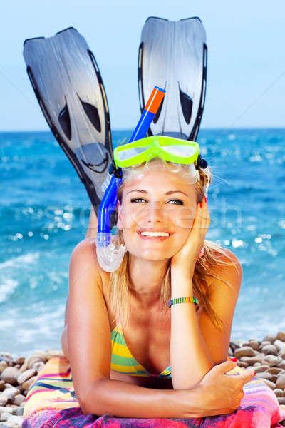 Summer fun on the beach Stock photo © Anna_Om