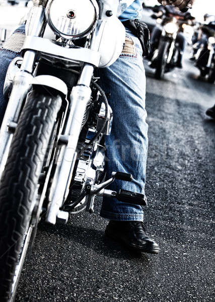 Bikers riding motorbikes Stock photo © Anna_Om
